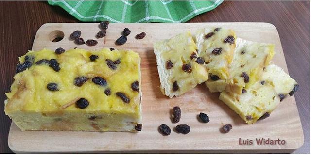 Gambar Puding Roti Tawar Kismis Coklat