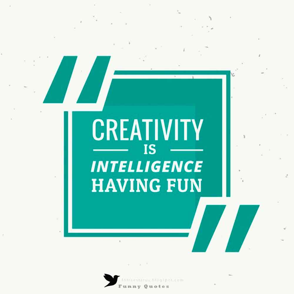 """Creativity is intelligence having fun"""
