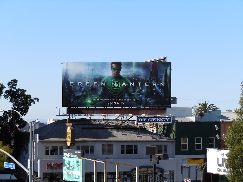 Green Lantern billboard Sunset Strip