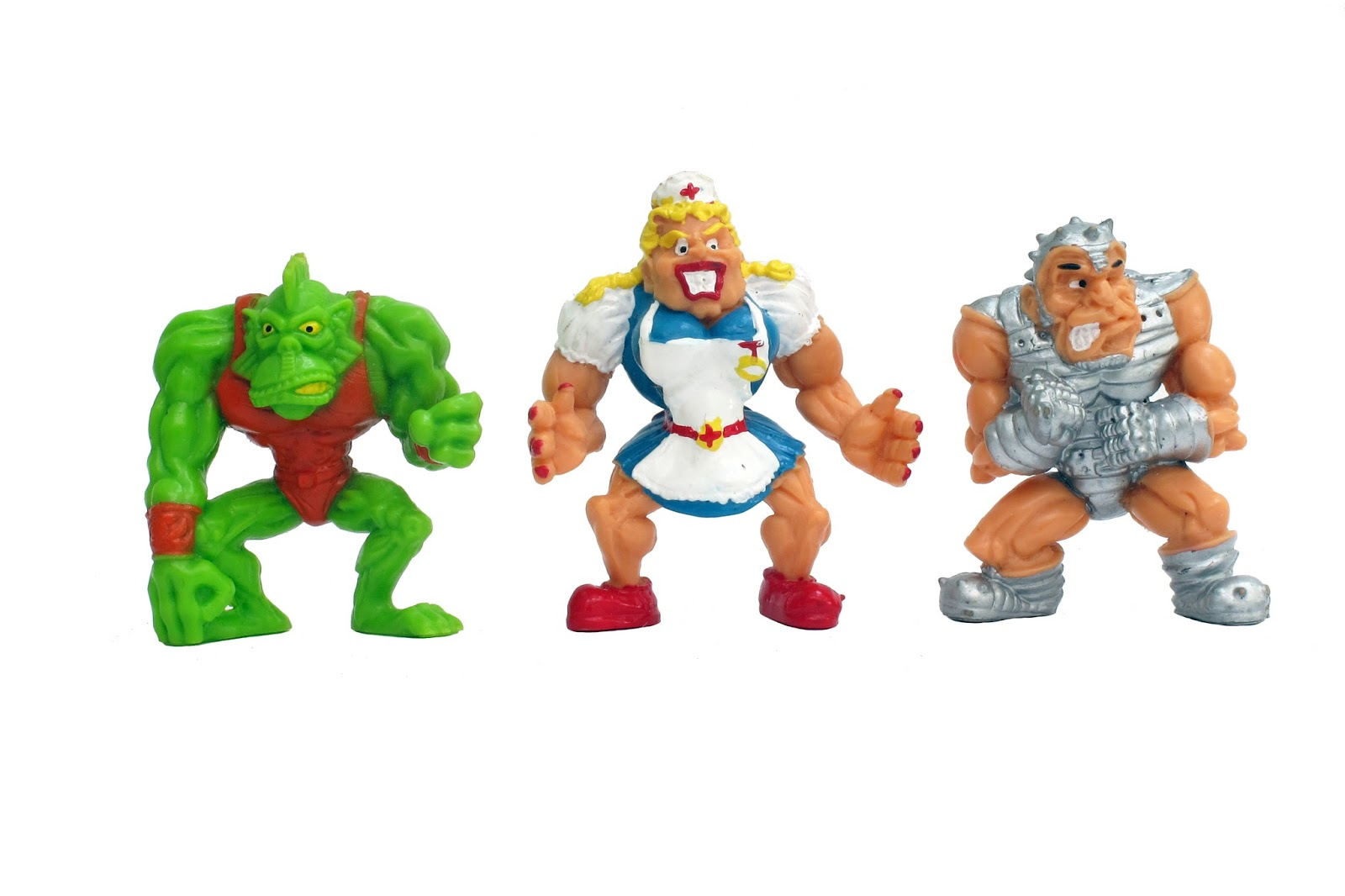 Mike's Painted Miniatures: Monster Wrestlers in my pocket