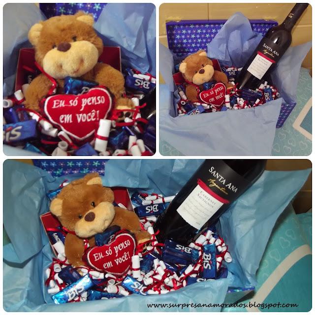 cesta romântica para o namorado páscoa 2013