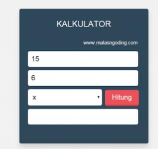 Tutorial Tambah Kurang Kali Bagi PHP Sederhana