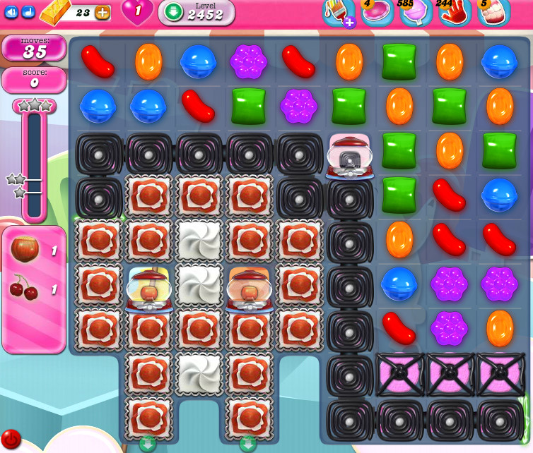 Candy Crush Saga level 2452