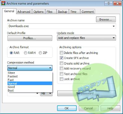 Konfigurasi Membuat Setup Exe Dengan WinRar