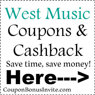 Save $15 at West Music with coupon code for 2018-2019| Feb, March, April, May, June, July, Aug, Sep, Oct, Nov, Dec