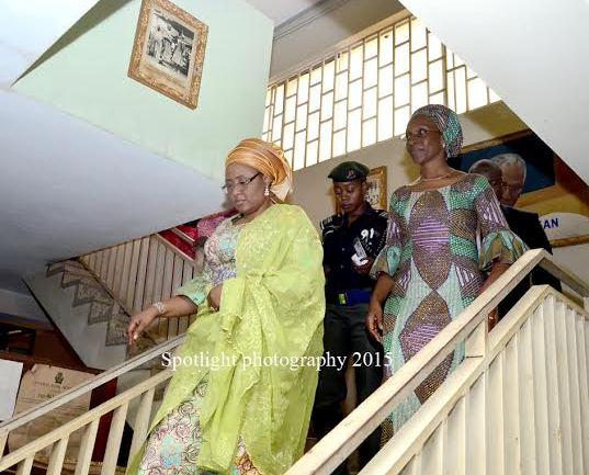Mrs Aisha Buhari on a tour of the Awolowo's residence