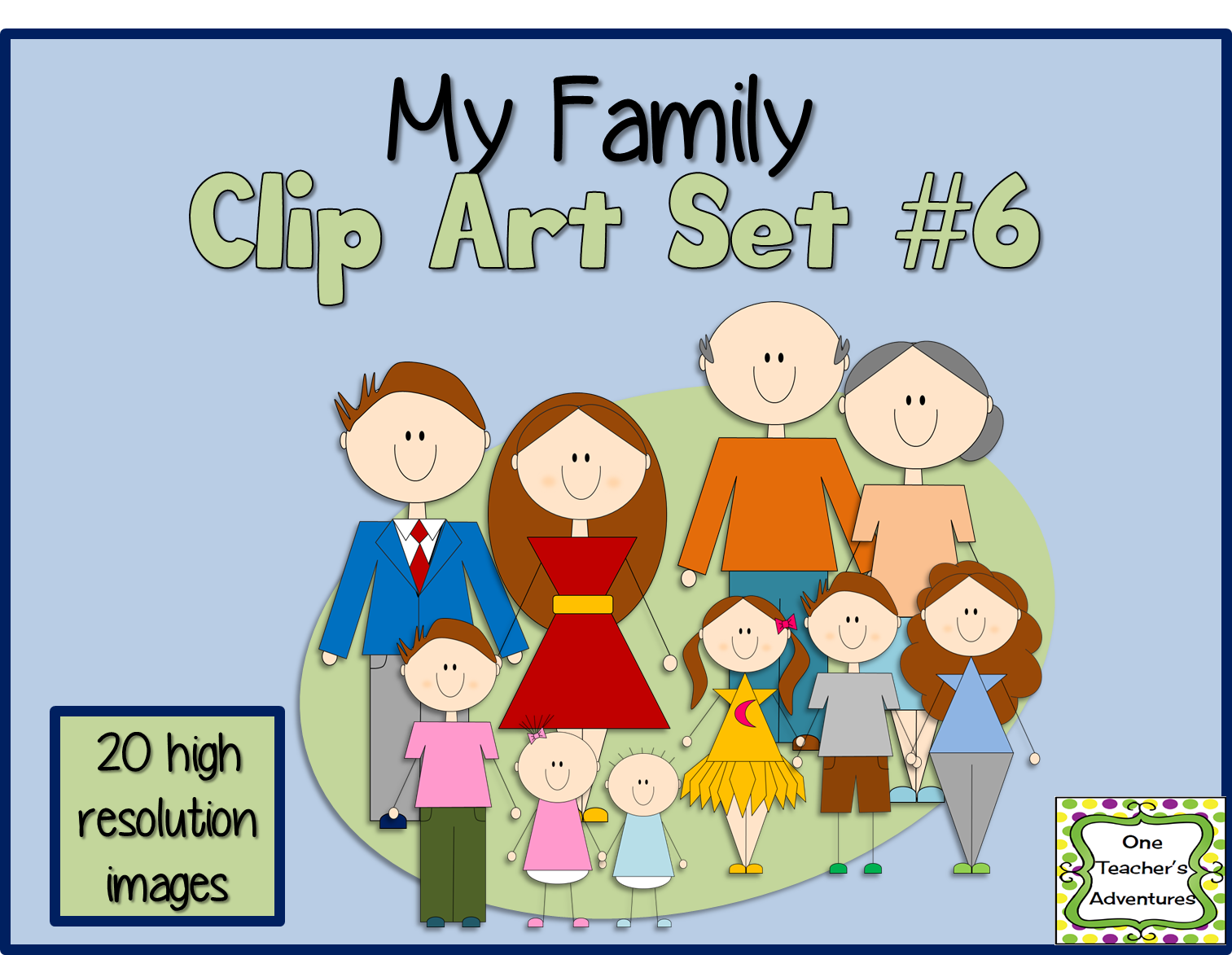 http://www.teacherspayteachers.com/Product/My-Family-Clip-Art-Set-6-1393417