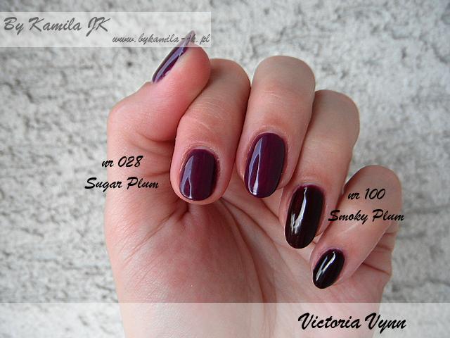 Victoria Vynn manicure hybrydowy lakiery hybrydowe nr 100 Smoky Plum 028 Sugar Plum