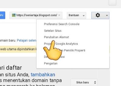 Jangan Lupa Menganti Alamat Blog di Webmaster ketika Berpindah ke Domain