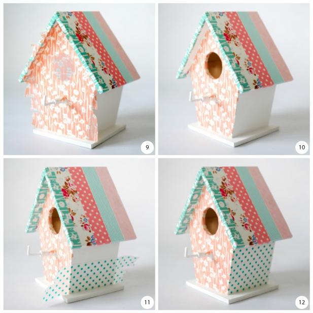 La llave de la casa del pájaro engancha los pasos 9 a 12