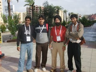 Indian Team at 18th World Puzzle Championship 2009 Antalya Turkey
