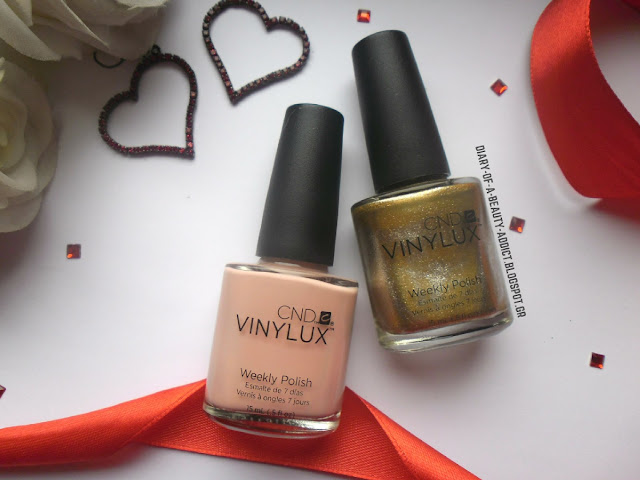 CND Vinylux Weekly Polish Pink Pursuit #215, CND Vinylux Weekly Polish Brass Button #229
