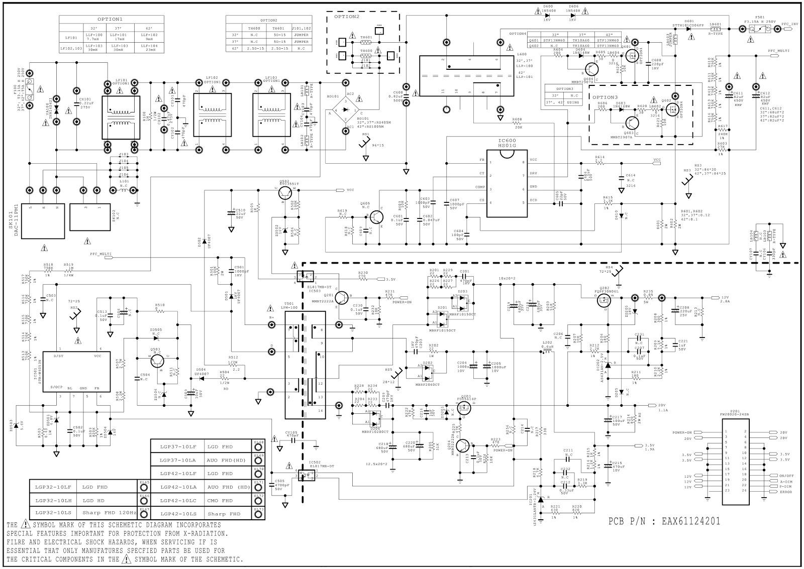 Lg Lcd Tv Smps Eay60869402 Eay60869403 Eay60869405 Circuit Electrical Diagram Symbols