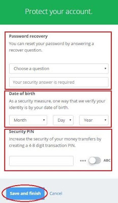 Password Recovery Ke Liye Question fill kare