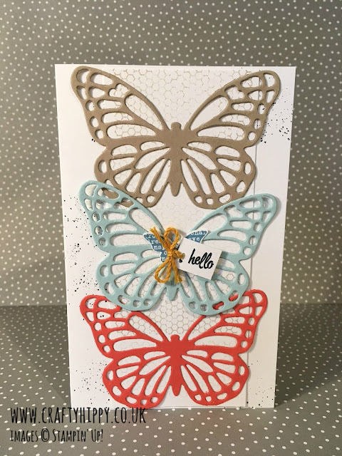 Learn how to make this butterfly card by Stampin' Up! Use the Butterflies Thinlits Dies to create a beautiful greetings card.