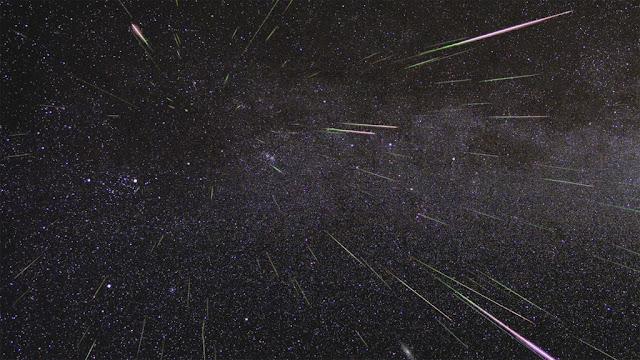 outburst da chuva de meteoros Perseidas