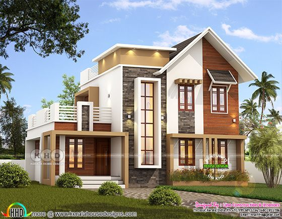 1742 square feet 4 bedroom mixed roof modern home
