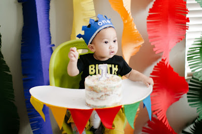 birthday, 1st birthday, birthday party, DIY, balloons, colorful