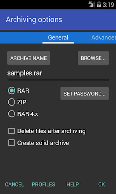 تطبيق RAR for Android مكرك, تطبيق RAR for Android عضوية فيب