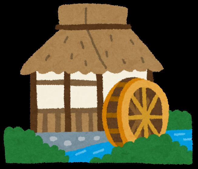 水車小屋のイラスト かわいいフリー素材集 いらすとや