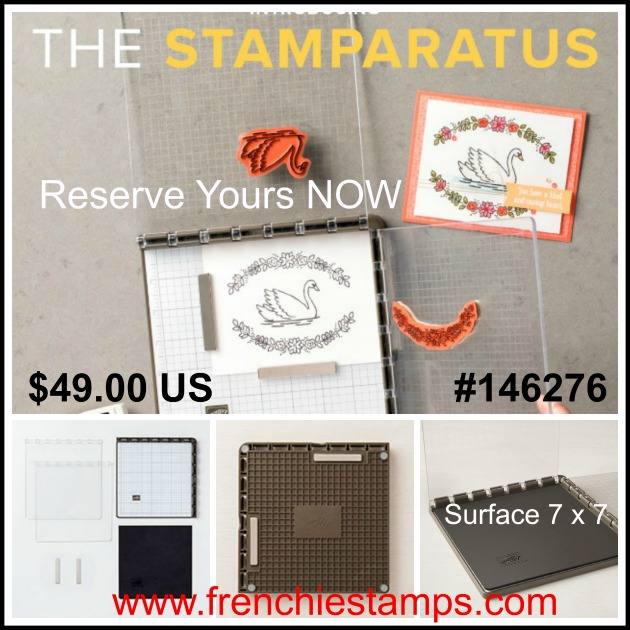 Pre Order the Stamparatus, Stampin'Up!, Frenchiestamps,