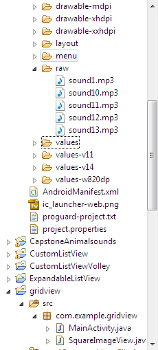 Play sound when clicking picture inside gridview   Android
