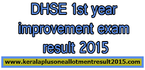 DHSE first year improvement exam result 2015