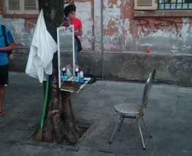 Peluquería de Hanoi.