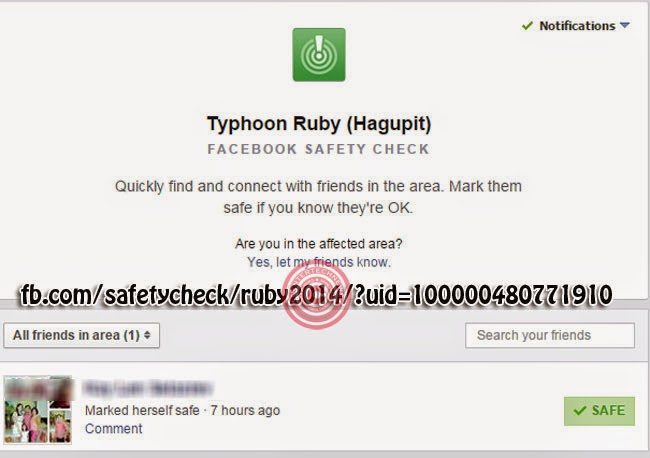 Facebook Activated 'Safety Check' for Typhoon Ruby Available via iOS, Android and Desktops