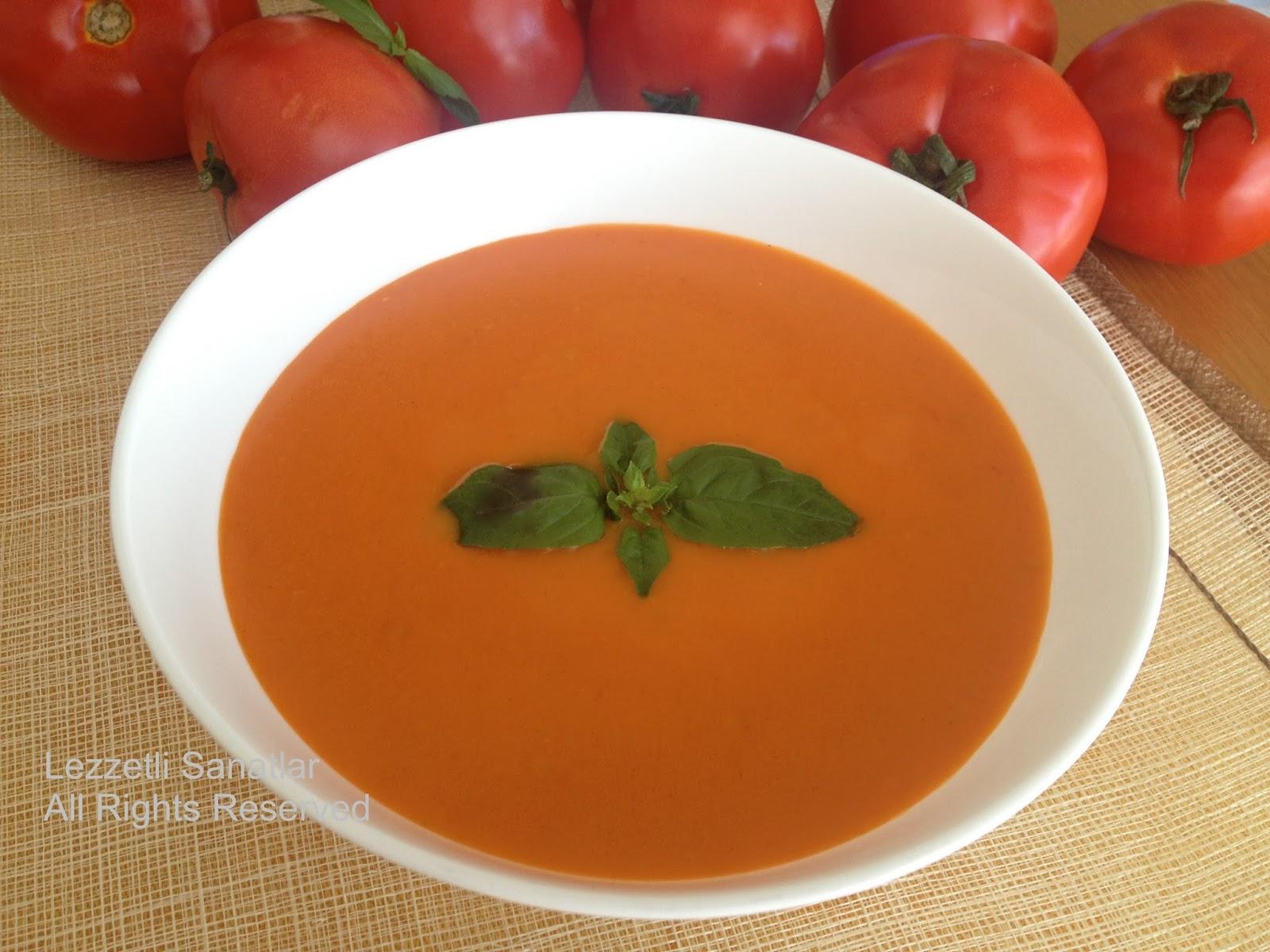 Közlenmiş domates çorbası nasıl yapılır