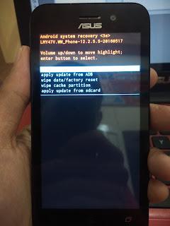 Hard Reset Asus Zenfone Go X014D
