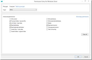 Advanced permissions