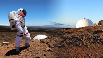 foto recreativa de astronauta en marte