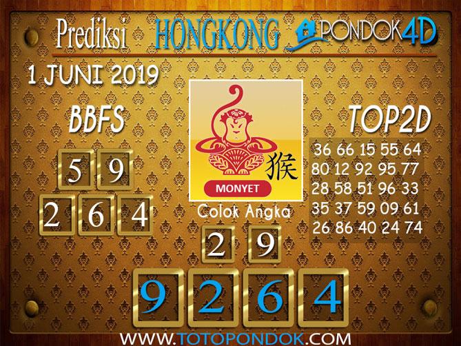Prediksi Togel HONGKONG PONDOK4D 1 JUNI 2019