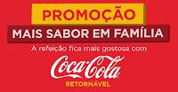 Promoção Mais Sabor em Família Coca-Cola maissaboremfamilia.com.br