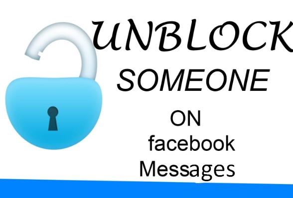 how to unblock someone on facebook messages