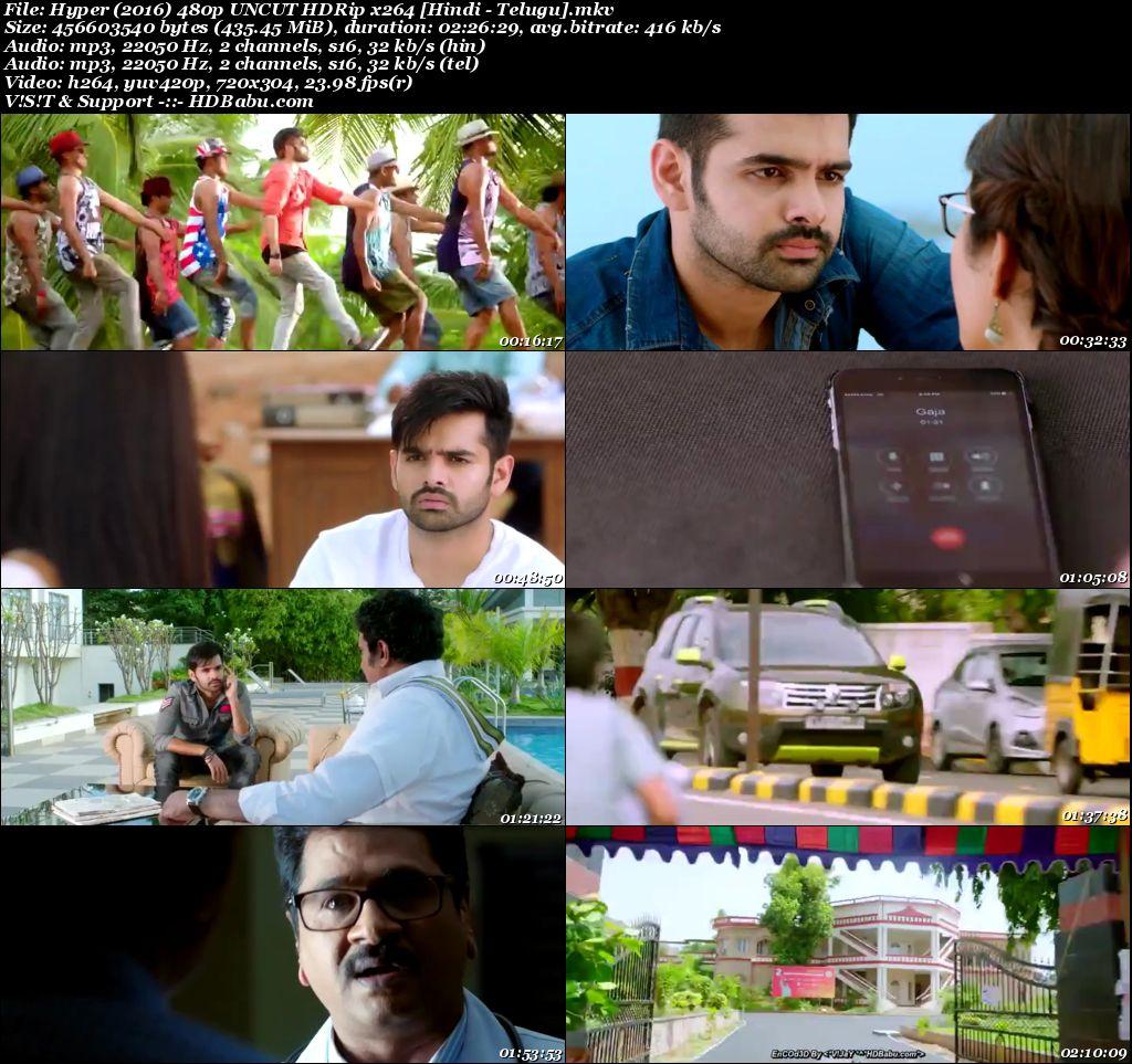 Hyper (2016) 480p UNCUT HDRip x264 [Hindi - Telugu] 400 MB Screenshot