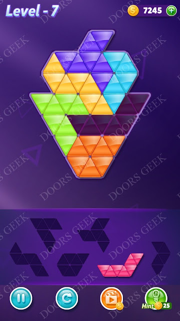 Block! Triangle Puzzle Intermediate Level 7 Solution, Cheats, Walkthrough for Android, iPhone, iPad and iPod