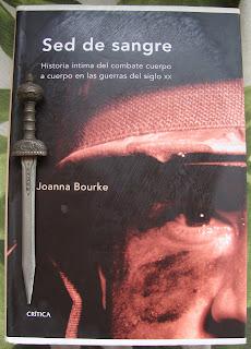 Portada del libro Sed de sangre, de Joanna Bourke
