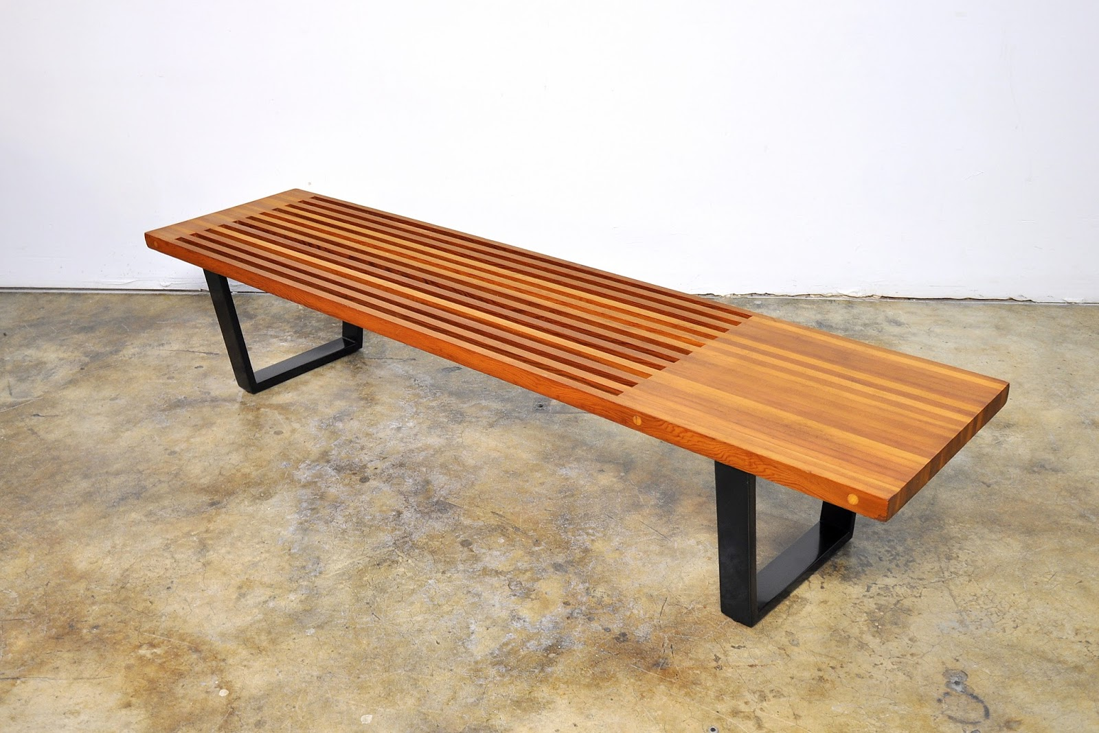 Select Modern George Nelson Style Slat Bench Or Coffee Table