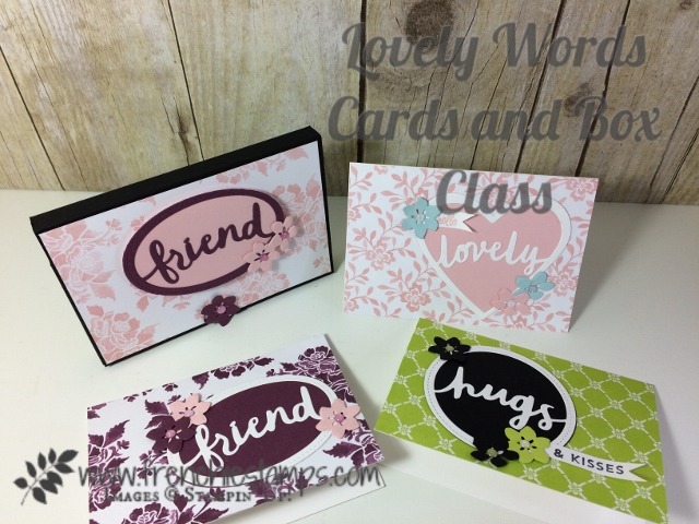 Note Card Box, Lovely Words, Stampin'Up! In-Colors 2017-19