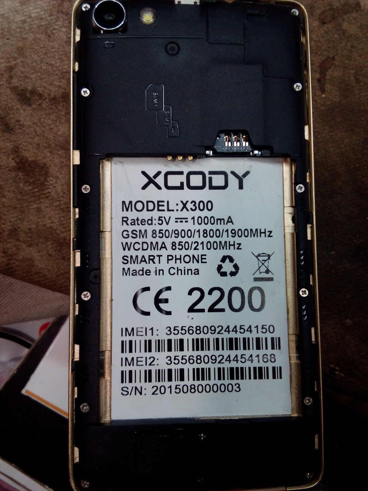 Picture of XGODY X300 Mt6572 Flash file Download free Firmware