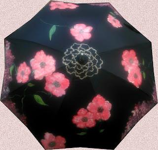 Complementos exclusivos pintados a mano en Talentox2 Moda con sus originales paraguas pintados a mano, paraguas artesanales, bonitos diseños.