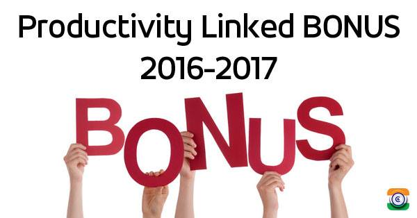 NFIR Productivity Linked Bonus for the financial year 2016-17