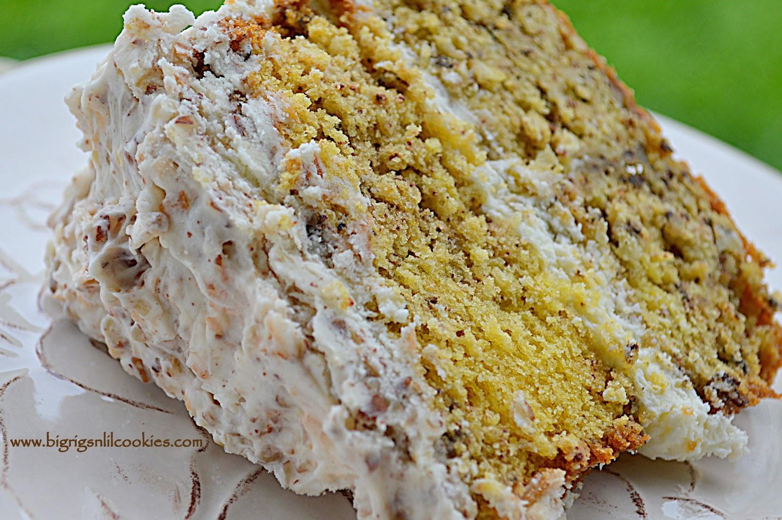 Big Rigs n Lil Cookies Italian Cream Cake