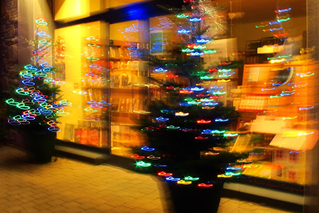 Christmas trees, abstract image