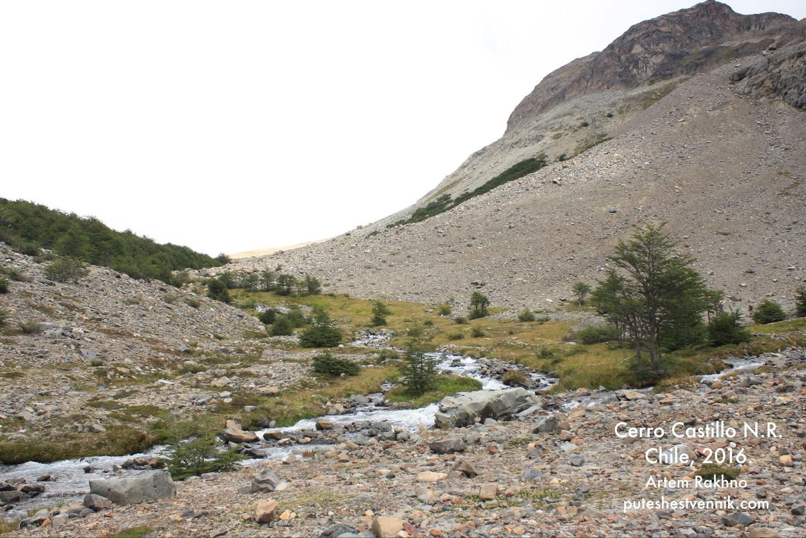 Поворот горной реки
