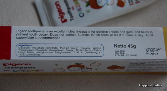 Pigeon Children fluoride-free Toothpaste