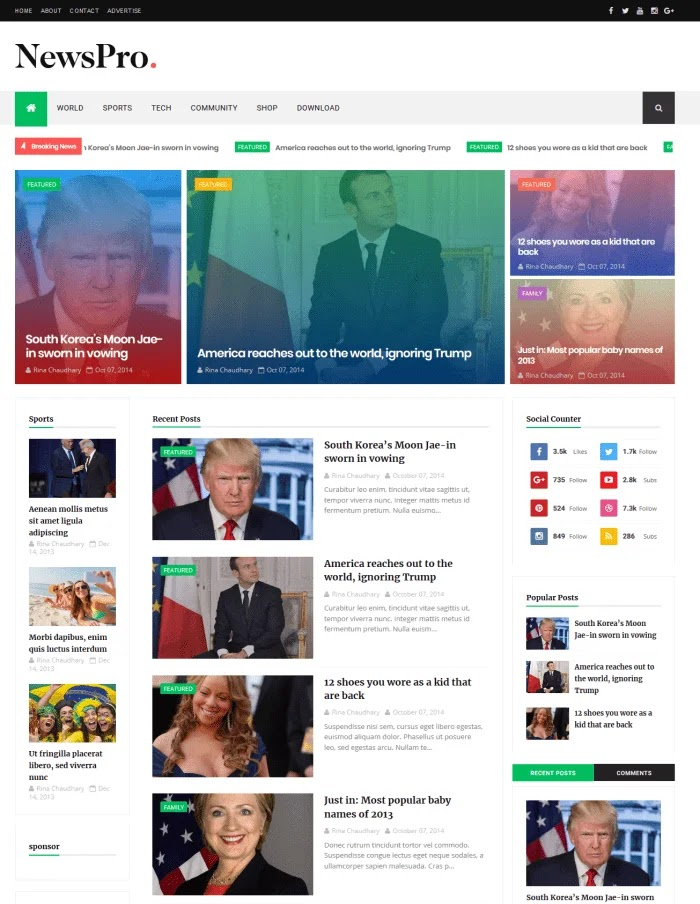 News pro Fast Loading Blogger Templates