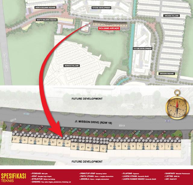 Siteplan Ruko Solvang Arcade Paramount